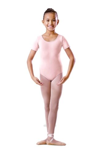 Bloch Girls Round Neck Short Sleeve Leotard Dance Ballet Uniform BU201C Pink